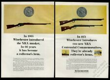1971 Winchester NRA Centennial Commemorative rifle musket photo vintage print ad