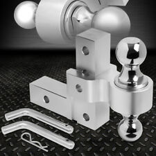 """ALUMINUM DUAL BALL 6"""" DROP ADJUSTABLE TRAILER TOW/TOWING HITCH FOR 2"""" RECEIVER"""