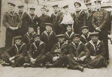 WW1 Naval post card HMS Leviathan Crew Photo  Royal navy Cruiser