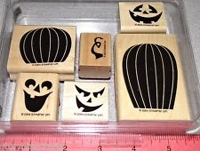 Stampin Up Carved & Candlelit Stamp Set Pumpkins Halloween Scary Faces Clean