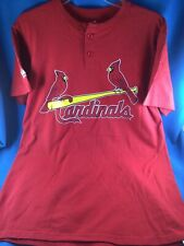 Preowned Men'S Red Majestic Cardinals Little League Baseball Jersey - Size Small
