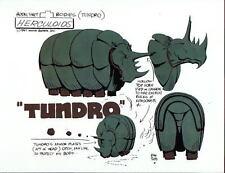 The HERCULOIDS - TUNDRO MODEL SHEET PRINT Hanna Barbera Alex Toth art