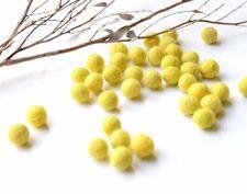 1cm YELLOW Felt Balls x50.Wool.Party Decor.Pom poms.Felt Ball.Wholesale.