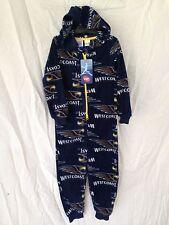 BNWT Boys Size 4 Official AFL West Coast Eagles Onesie Polar Fleece Sleep Suit