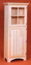 AMISH Unfinished Solid Pine ~ Rustic Pantry Window Storage Cabinet SHELVES