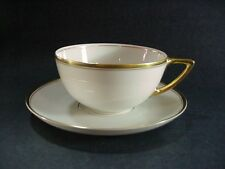 "ROSENTHAL PORCELAIN: SET OF 6 LARGE CUPS & SAUCERS DOUBLE GOLD TRIM ""AIDA"""