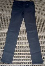 BARDOT JUNIOR GIRLS SUPER SKINNY BLACK  SHINY JEANS SZ 10