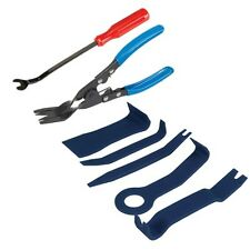 7pce Car Door Upholstery Trim Clip Removal Pliers Tool Panels Ply Bar Combo Set