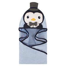 HUDSON BABY Animal Face Hooded Baby Toddler Towel PENGUIN - Great Gift