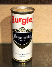 1970 16 Ounce Bottom Open Burgermeister Burgie Straight Steel Pull Tab Beer Can
