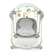 Chicco Polly Baby Swing Altalena Grey Cream Rocker Chair With Mobile & Music