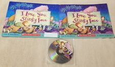 I LOVE YOU STINKY FACE 2 Book Lot & Audio CD Listening Center Scholastic McCourt