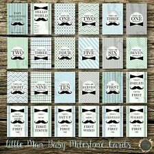 """Little Man Baby Moments & Milestones Cards 24 Pack 4×6"""" Photo props boy"""
