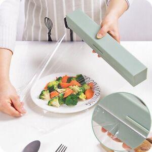 Cling Film Dispenser Holder Cutter Food Wrap Kitchen Foil Food Plastic Wrap Hold