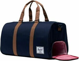 Herschel Discovery Channel / Novel Duffle Travel Bag 42.5L Peacoat Saddle Brown