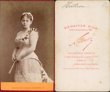 Nadar, Paris, Marie Heilbron, actrice CDV vintage albumen carte de visite