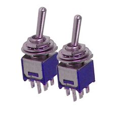 2 x Mercury Sub-miniature toggle switches on on 9.2 x 8.2mm 1A 250Vac 3A 125Vac