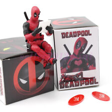 """US SHIP Cute 2"""" DC Comics Sitting Deadpool Heroes PVC Figure Toy Without Box"""