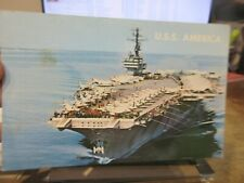 Other Old Postcard Boat Ship Military Battleship Uss America Aircraft Carrier