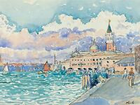 HENRI EDMOND CROSS FRENCH VENICE OLD ART PAINTING POSTER PRINT BB5610A