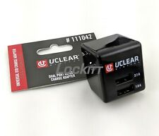 Uclear Dual Port USB Charger 1.0A - 2.1A 5v 100/240v 50/60Hz 111042