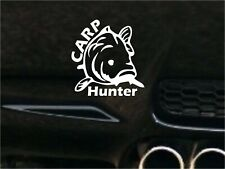 Carp Hunter Decal Fishing sticker Vinyl