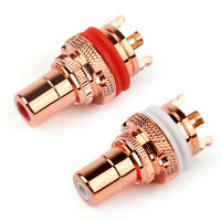 1Pair RCA Female Socket Chassis Connector High Quality Copper Jack A2