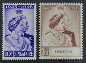 nystamps British Singapore Stamp # 21,22 Mint OG H $116   L23x2884