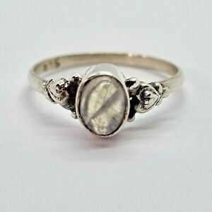 Brand New Sterling Silver 925 Labradorite (Oval) Ring, Size L