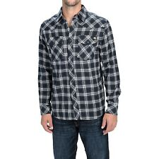 DICKIES CLASSIC CHECK FLANNEL SHIRT Blue MENS M - 4XL NEW western