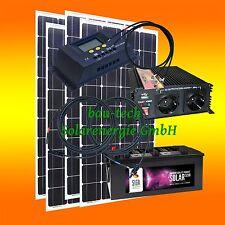 400Watt Inselanlage Solaranlage, 12Volt SET wählbar Spannungswandler / Batterie