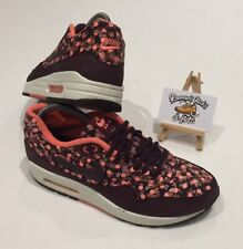 Nike Air Max 1 Liberty of London Burgundy Limited Edition UK 6 VINTAGE UNISEX