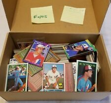 MONTREAL EXPOS LOT OF OVER 800 BASEBALL CARDS WITH LOTS OF DOUBLES-LOW$$