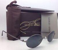 New GIORGIO ARMANI Titanium Sunglasses AR6018-T 3003/87 47-24 Gunmetal w/ Grey