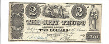 1839 $2 The City Trust & Banking Co. New York Broken Bank Note Obsolete Currency