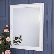 Large Ornate White Mirror Wall Floor Bedroom Hall Living Room Chic 100cm x 80cm