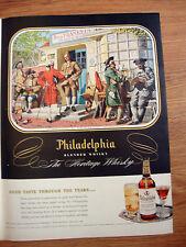 1950 Philadelphia Whiskey Ad B. Franklin's Printing Shop Near the New Market