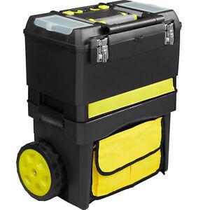 XL Werkzeugtrolley leer Werkzeugkoffer Werkzeugkasten Werkzeugwagen mit Rollen