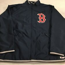 Mens BOSTON RED SOX full zip windbreaker jacket size Large True Fan