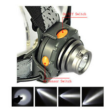 1000LM XPE LED IR Sensor Mini Headlamp Headlight Torch Lamp Flashlight+18650