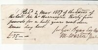 Received 1837 From Executors Thirty Five Pounds Half Years Rent Receipt Rf 35339