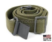 Garand Web Sling for M1 and Current Issue Rifles OD Cotton USGI Pattern US Made!