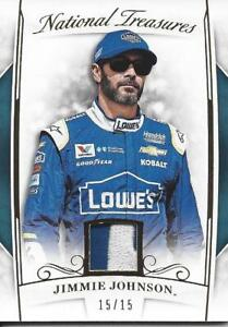 """JIMMIE JOHNSON 2017 NATIONAL TREASURES RACING GOLD LOGO PATCH """"LOWE'S"""" (15/15)!!"""