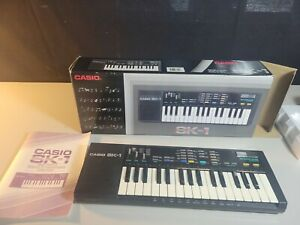 1980s Casio SK-1 Sampling Keyboard Synthesizer  WORKS TESTED