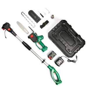 8 Inch Cordless Pole Saw, 20V Power 4.0Ah Pole Chainsaw for Tree Trimming