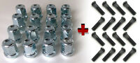 Set of 16 M12 x 1.5 19mm Hex alloy wheel nuts and + standard Studs for Ford Cars