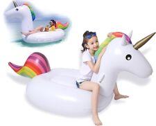 Unicorno Canotto Gonfiabile 200 cm Materasso Ragazzi e Adulti x Party in Piscina