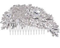 Flower Crystal Pins Rhinestone Bride Hair Comb Clip Wedding Bridal Prom Party