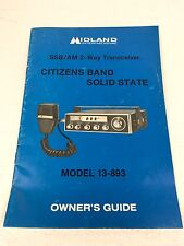 MIDLAND 13-983 2-Way Transceiver Radio SSB/AM Citizens Band Owner's Guide Manual