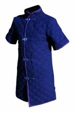 Medieval Viking Gambeson Half Sleeves in Blue Color/Renaissance Cotton Gambeson
